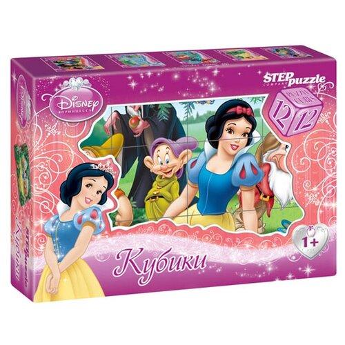 Купить Кубики-пазлы Step puzzle Disney Белоснежка 87154, Детские кубики