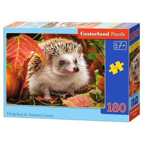 Купить Пазл Castorland Hedgehog in Autumn Leaves (B-018338), 180 дет., Пазлы