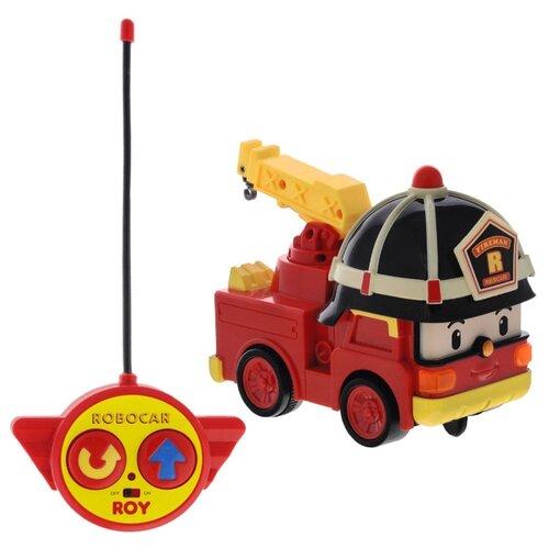 Пожарный автомобиль Silverlit Robocar Poli Рой (83186) 15 см красный/черный/желтый трансформер poli рой рой 83170