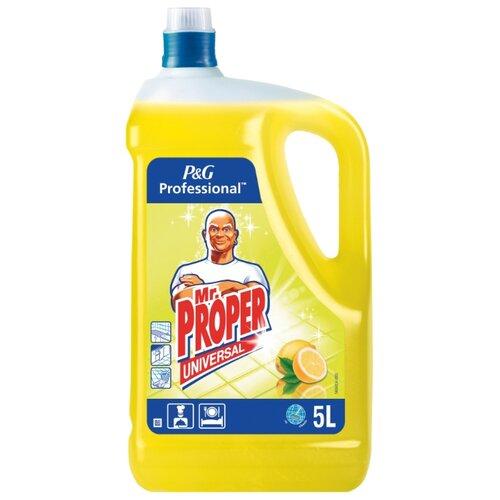 Mr. Proper Универсальное жидкое моющее средство Professional Лимон 5 л средство д пола и кухни mr proper лимон проф 5л