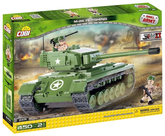 Конструктор Cobi Small Army World War II 2471 Тяжелый танк M-26 Pershing