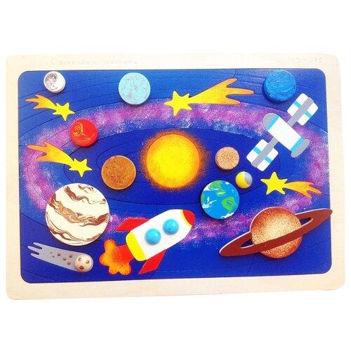 Купить Рамка-вкладыш Крона Солнечная система (143-071), 31 дет., Пазлы