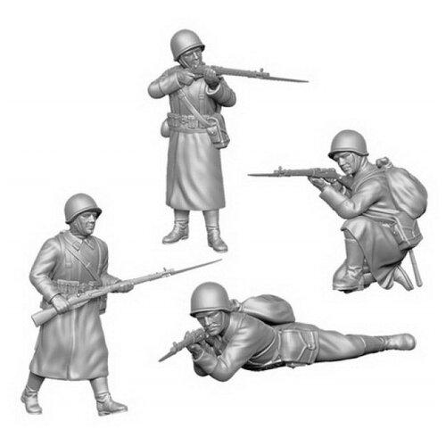 Фото - Сборная модель ZVEZDA Советская пехота в зимней форме 1941-1942 (6197) 1:72 сборная модель zvezda немецкая пехота в зимней форме 1941 1945 6198 1 72