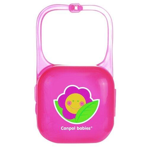 аксессуары для пустышек lubby футляр для пустышек Футляр для пустышек Canpol Babies Happy Garden 0 м (1 шт.) розовый