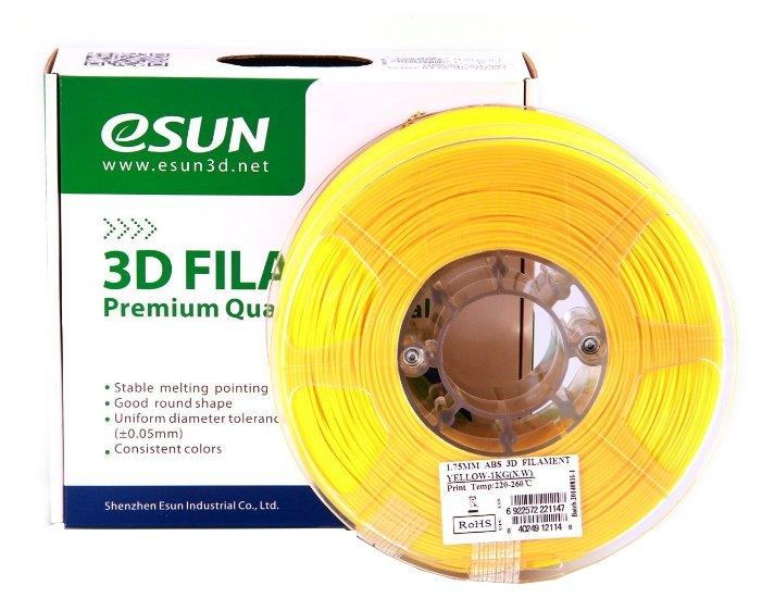 ABS пруток ESUN 1.75 мм желтый