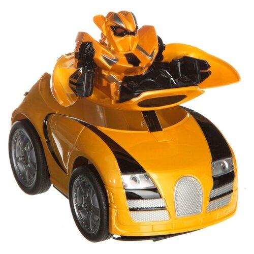 Робот-трансформер Zhorya Авто-робот ZYC-0858-1B желтый конструктор игрушечный zhorya робот вертолет