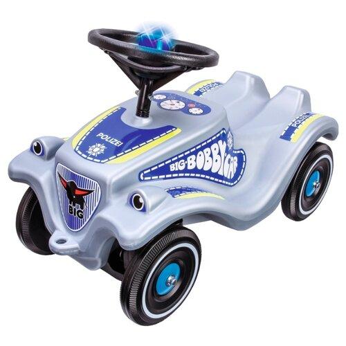 Каталка-толокар BIG Bobby Car Classic Polizei (56101) со звуковыми эффектами серый/синий big машинка big bobby car racer