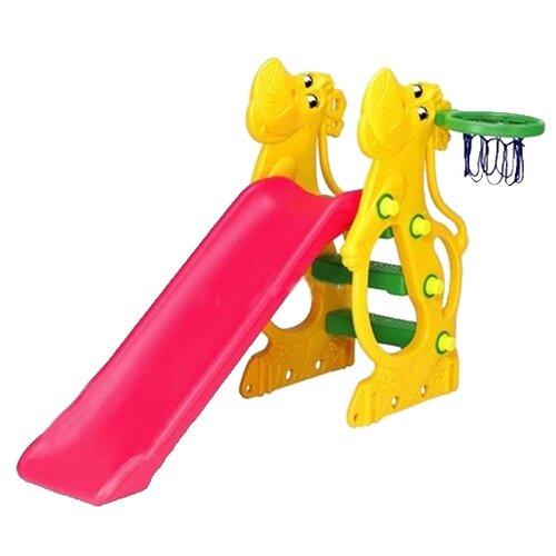 Купить Горка CHING-CHING SL-12 Бегемот желтый/красный/зеленый, Игровые и спортивные комплексы и горки