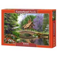 Пазл Castorland 1000 деталей Дом у реки, средний размер элементов 1,9х1,7 см C-102365 Castorland