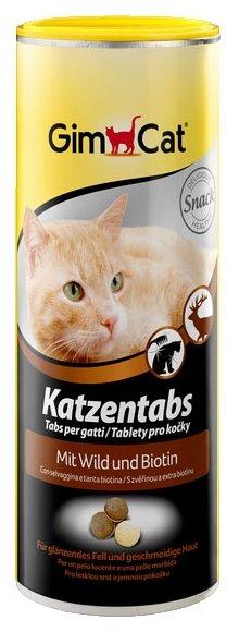 Добавка в корм GimCat Katzentabs с дичью и биотином