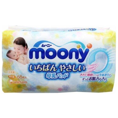 Купить Moony Вкладыши для бюстгальтера одноразовые 68 шт., Прокладки для груди