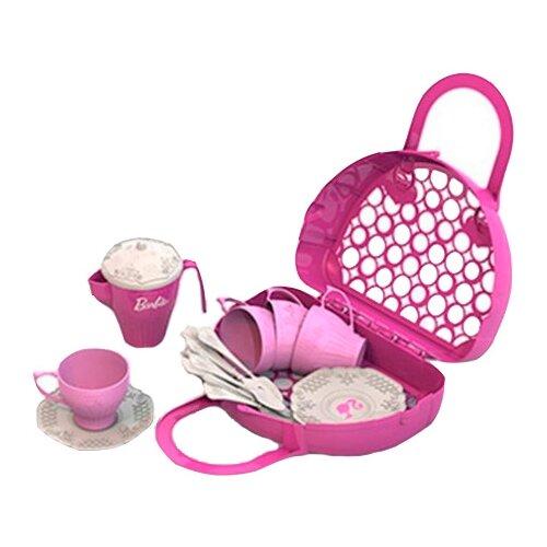 Купить Набор посуды Нордпласт Барби 633 розовый/белый, Игрушечная еда и посуда