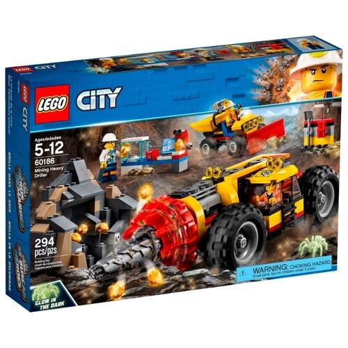 Конструктор LEGO City 60186 Тяжелый бур для горных работ конструктор city lego lego mp002xb00c9t