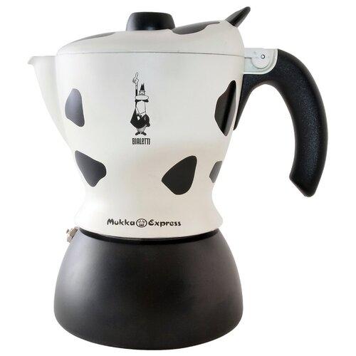 Кофеварка Bialetti Mukka Express (2 чашки) белый/черный