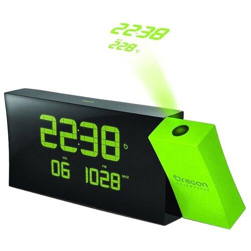 Радиобудильник Oregon Scientific RRM222PN черный/зеленый