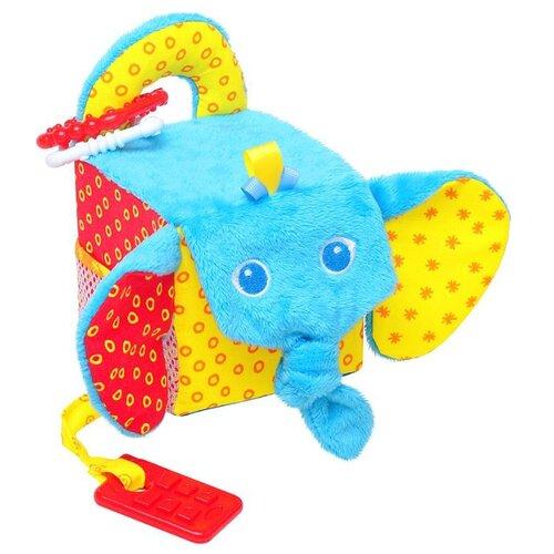 Подвесная игрушка Мякиши Слон (306) голубой/желтый/красный мякиши мягкая развивающая игрушка кубик слон