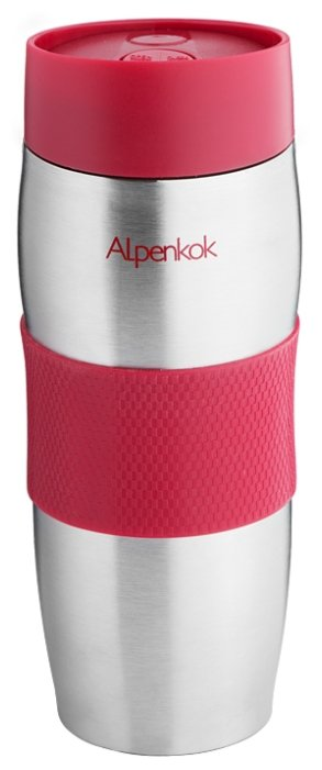 Термокружка Alpenkok Олени 400ml Red AK-04022A