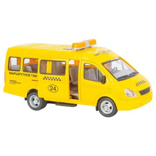 Купить Микроавтобус ТЕХНОПАРК ГАЗель Маршрутное такси (A071-H11023-J006) 23 см желтый, Машинки и техника