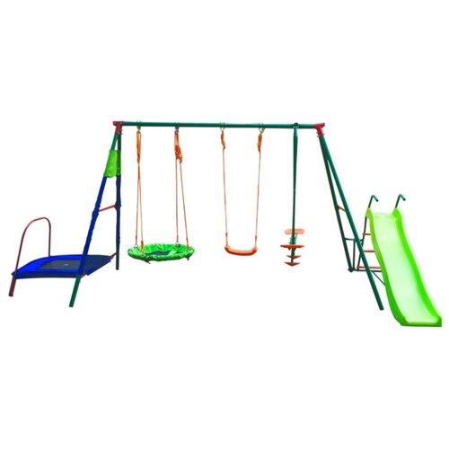 Купить Спортивно-игровой комплекс DFC MTS-01 зеленый/синий, Игровые и спортивные комплексы и горки