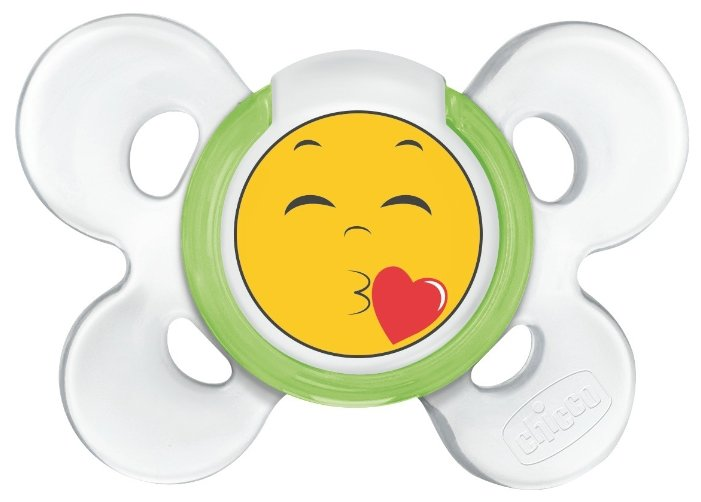 Пустышка силиконовая ортодонтическая Chicco Physio Comfort Smile 6-12 м (1 шт)