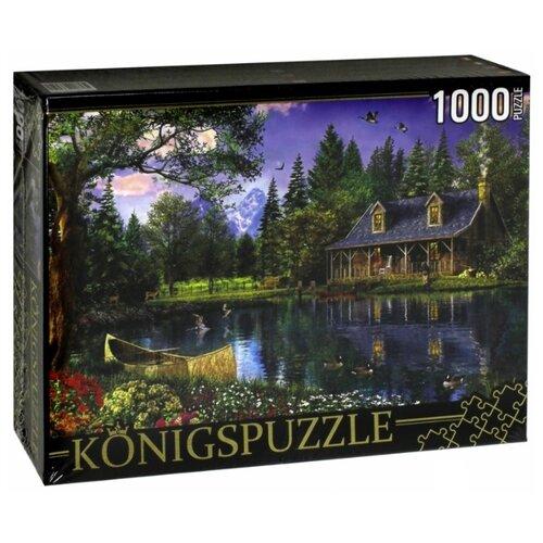 Купить Пазл Рыжий кот Konigspuzzle Домик у озера (МГК1000-6459), 1000 дет., Пазлы