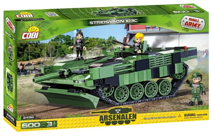 Конструктор Cobi Small Army World War II 2498 Шведский танк Stridsvagn 103C