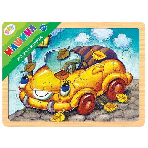 Фото - Рамка-вкладыш Step puzzle Baby Step Каруселька Машина (89035), 15 дет. рамка вкладыш step puzzle baby step мышонок 89069 7 дет