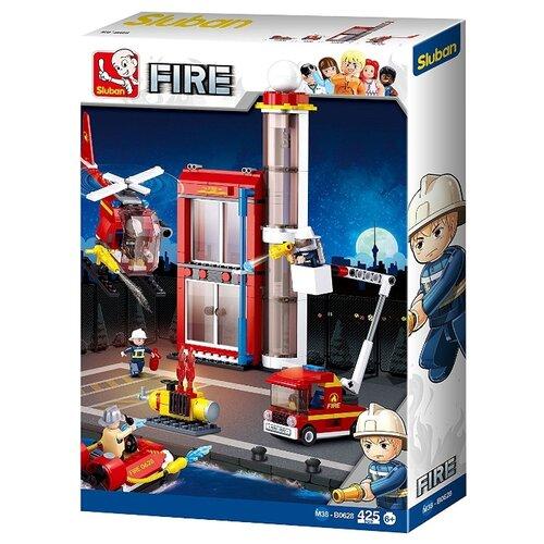 Конструктор SLUBAN Пожарные спасатели M38-B0628