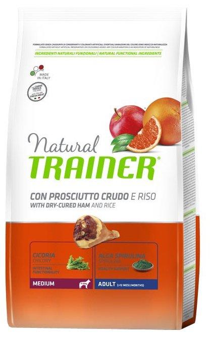 Корм для собак TRAINER Natural Adult Medium Dry-Cured Ham and rice dry (3 кг)
