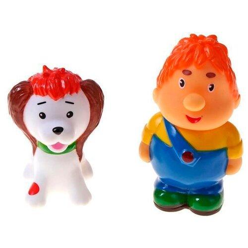 Фото - Набор для ванной Играем вместе Карлсон и щенок (137R) разноцветный набор для ванной играем вместе котенок гав и щенок 136r pvc белый оранжевый