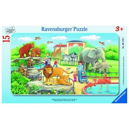 Купить Пазл Ravensburger Прогулка по зоопарку (06116), 15 дет., Пазлы