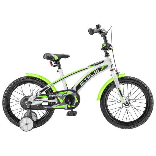 Детский велосипед STELS Arrow 16 V020 (2018) белый/зеленый (требует финальной сборки)
