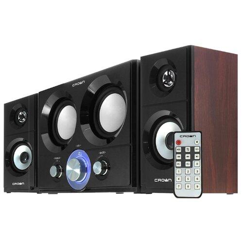 цена на Компьютерная акустика CROWN MICRO CMBS-361 черный / красное дерево