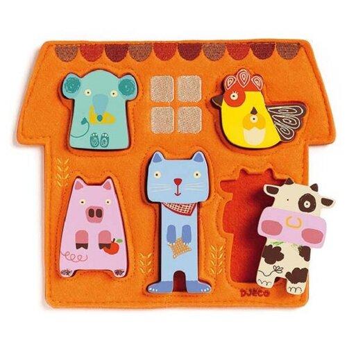 Рамка-вкладыш DJECO Барита (01038), 5 дет. оранжевый рамка вкладыш djeco ферма 01116 5 дет