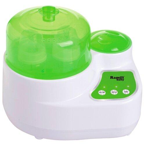 Электрический стерилизатор-подогреватель бутылочек и детского питания 3 в 1 Ramili Baby BSS250 зеленый