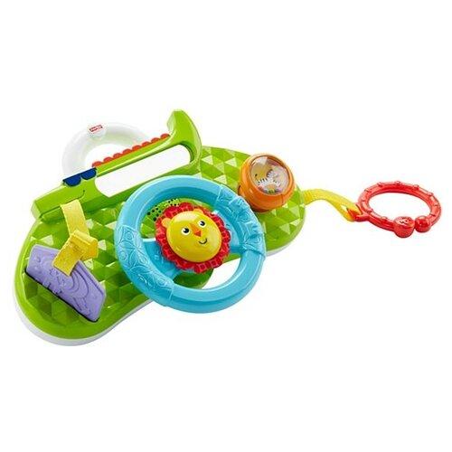 Купить Интерактивная развивающая игрушка Fisher-Price Обучающий руль Львенок (DYW53) зеленый, Развивающие игрушки
