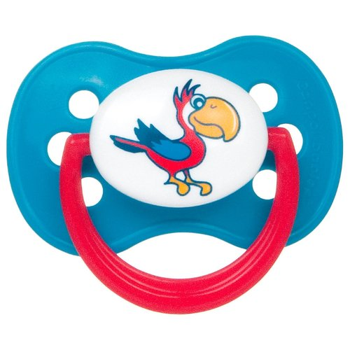 Купить Пустышка латексная классическая Canpol Babies Animals Continents 6-18 м (1 шт) голубой/красный, Пустышки и аксессуары