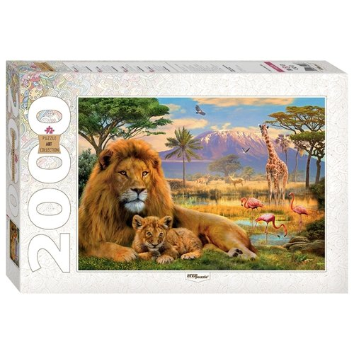 Купить Пазл Step puzzle Art Collection Лев (84028), 2000 дет., Пазлы
