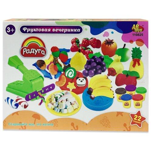 Купить Масса для лепки ABtoys Радуга Фруктовая вечеринка 22 предмета (110825), Пластилин и масса для лепки