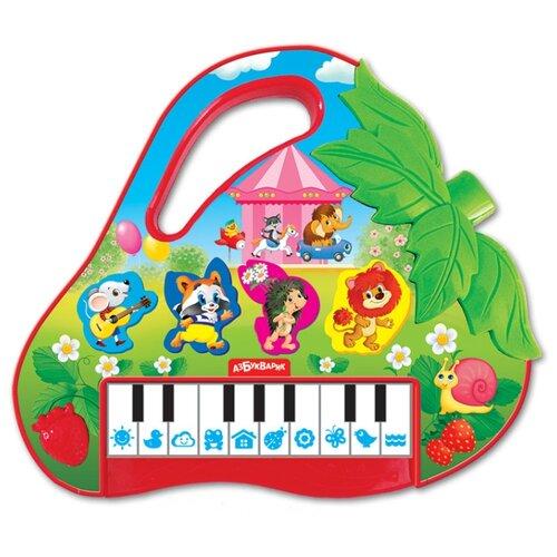 Азбукварик пианино 28211-4 зеленый/красный/белый азбукварик книга с 11 кнопками какие бывают подарки page 4