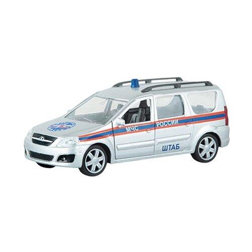 Легковой автомобиль Autogrand Lada Largus МЧС (49483) 1:38 14 см серебристый/оранжевый/синий