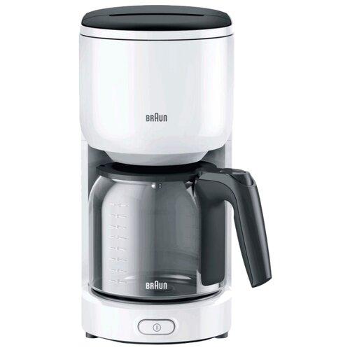 Кофеварка Braun KF 3120 белый кофеварка капельная braun kf 560 1 с фильтром brita