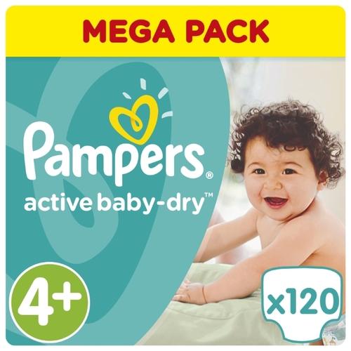 bd84730ee1b3 Купить Pampers подгузники Active Baby-Dry 4+ (9-16 кг) 120 шт. по ...