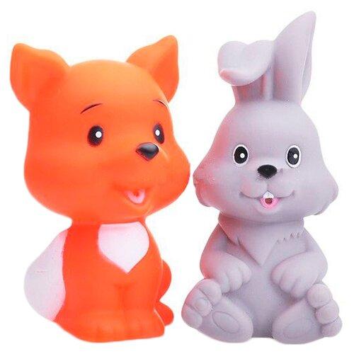 Купить Набор для ванной Играем вместе Заяц и лиса (LXB333_335) серый/оранжевый, Игрушки для ванной