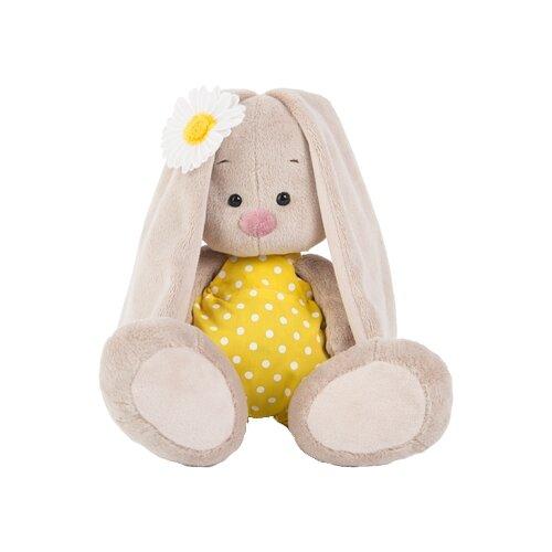 Мягкая игрушка Зайка Ми в жёлтом комбинезоне и с ромашкой 23 см, Мягкие игрушки  - купить со скидкой