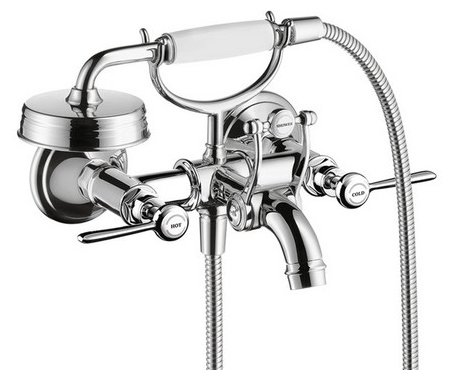Смеситель для ванны с душем AXOR Montreux 16551000 двухрычажный лейка в комплекте хром