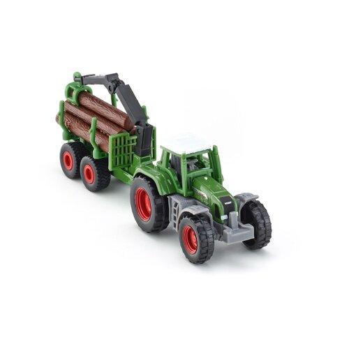 Купить Трактор Siku Fendt с прицепом для бревен (1645) 1:50 зеленый, Машинки и техника