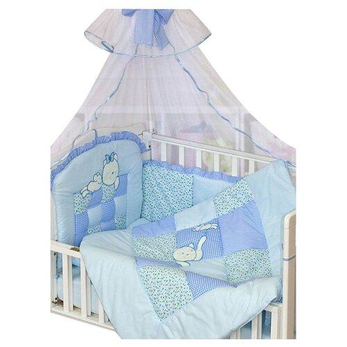 Купить Золотой Гусь комплект Кошки-мышки (7 предметов) голубой, Постельное белье и комплекты