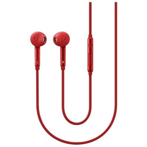 Наушники Samsung EO-EG920 Fit красныйНаушники и Bluetooth-гарнитуры<br>