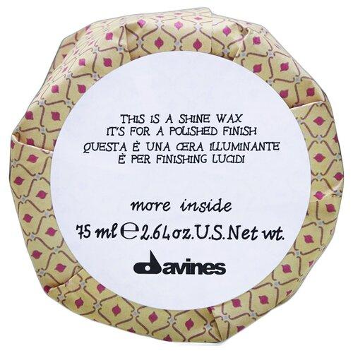 Купить Davines Воск-блеск для глянцевого финиша More Inside Shine, слабая фиксация, 75 мл